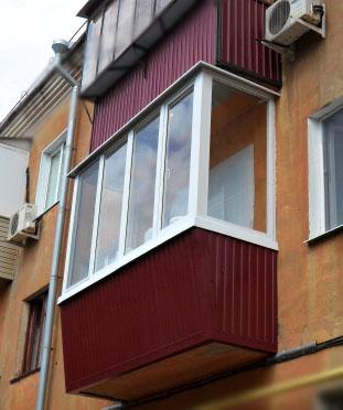 Хрущевский П-образный балкон